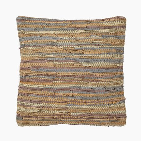 Coussin DITTA coloris taupe 45 x 45 cm