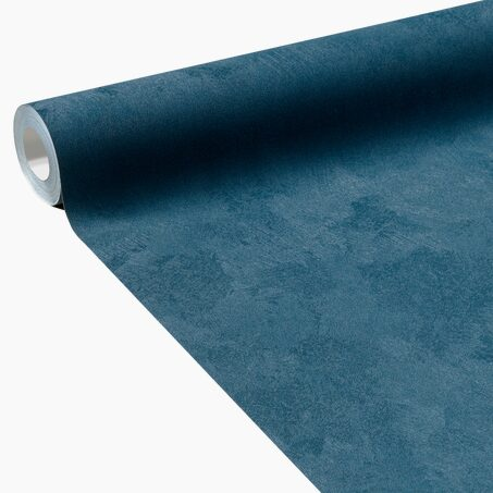 Non-woven wallpaper CLASSIC LINE colour petrol blue