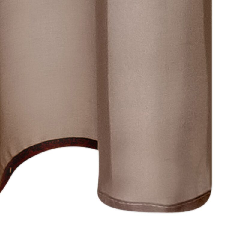 Voilage VOILE CHIC coloris taupe 140 x 240 cm
