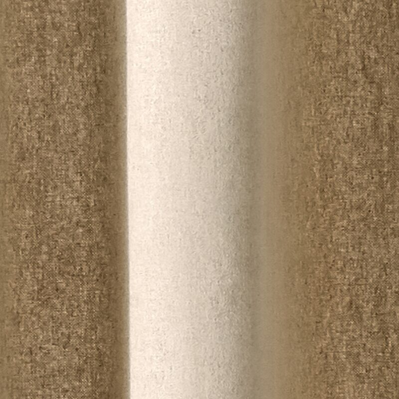 Rideau BRUSH coloris beige 135 x 240 cm