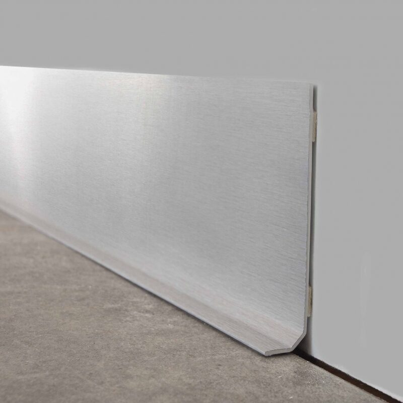 Decorative skirting board ALU BROSSÉ
