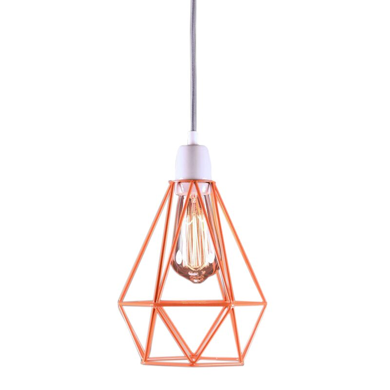 Lampe à poser DIAMOND coloris orange 28 x 18 cm
