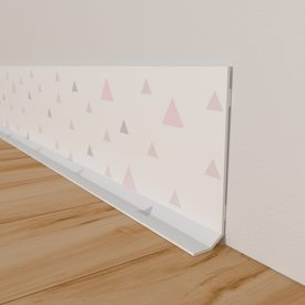 Plinthe Déco TRIANGOLO Coloris Rose Générique Murs - Plinthe carrelage et tapis de chambre pour bebe