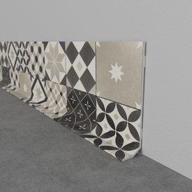 plinthe d co carreaux de ciment coloris gris g n rique. Black Bedroom Furniture Sets. Home Design Ideas
