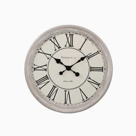 Clock CLOTHILDE colour white