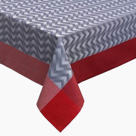 Chemin de table chevron coloris gris g n rique welldeco - Chemin de table gris perle ...