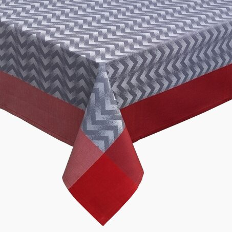 Tablecloth CHEVRON colour grey 155 x 155 cm