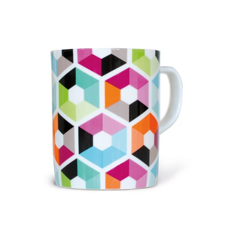 Mug HEXAGON coloris multicolore