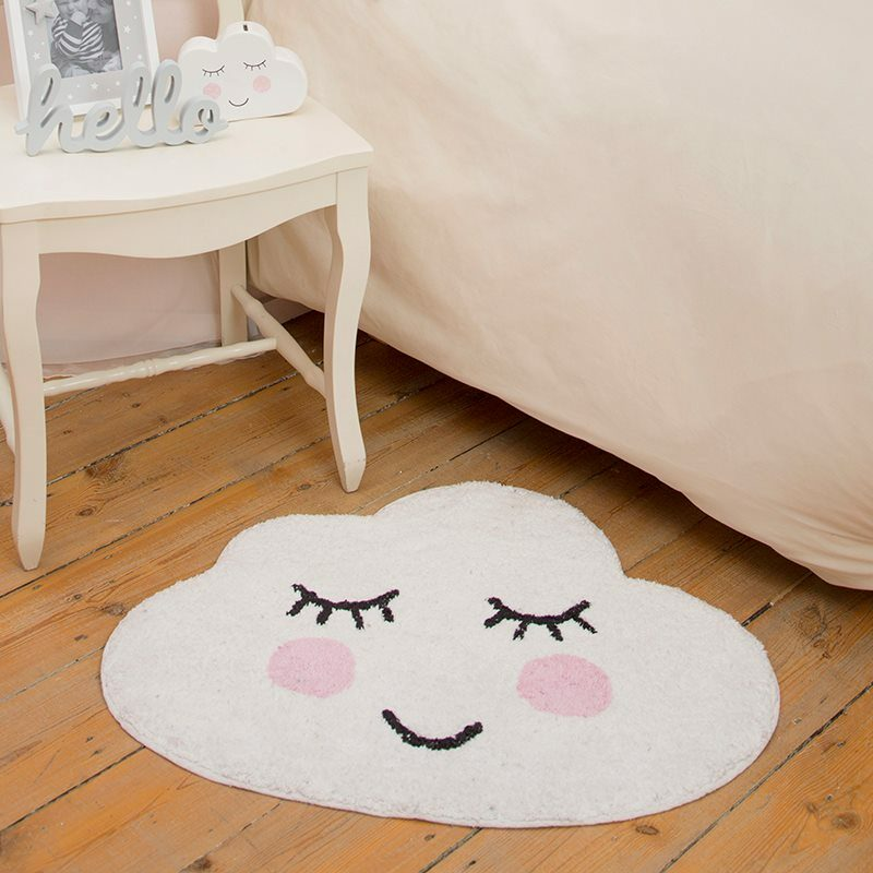 Tapis SWEET DREAMS SMILING coloris blanc