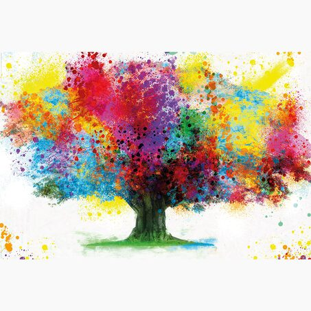 Tableau COLOURED TREE 90 x 60 cm
