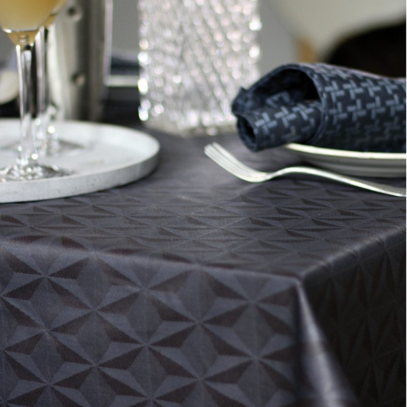 Tablecloth MILLE DELTA colour anthracite grey 150 x 235 cm