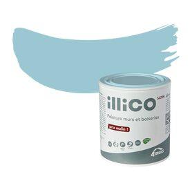 Illico Peinture Murs - Plinthe carrelage et tapis de bain bleu lagon