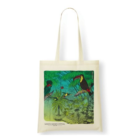 Tote bag FORET VIERGE colour ecru