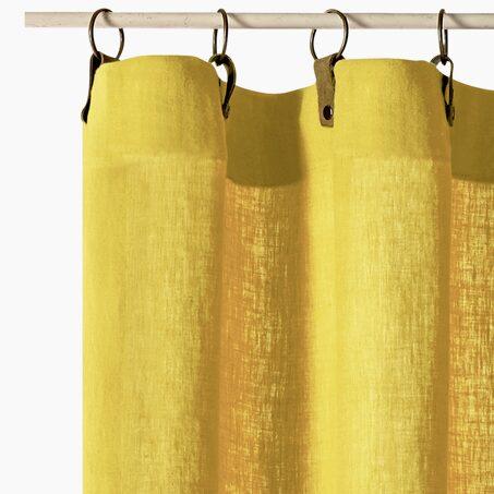 rideau villa coloris jaune moutarde 135 x 240 cm rideau. Black Bedroom Furniture Sets. Home Design Ideas