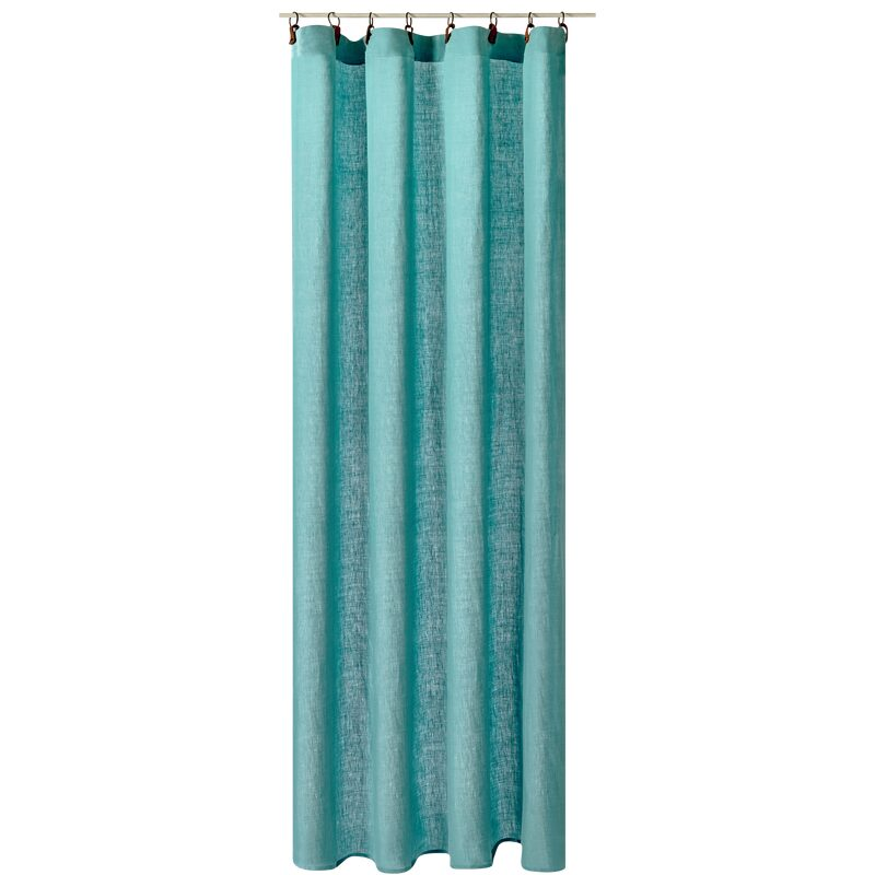 Curtain LEINNEN colour light blue 140 x 250 cm