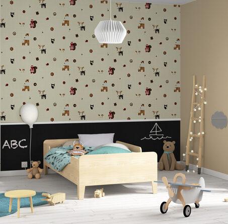 frise intiss e colormi origami coloris blanc noir frise 4murs. Black Bedroom Furniture Sets. Home Design Ideas