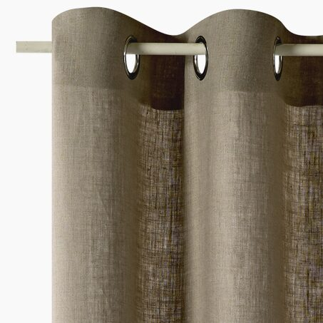 Curtain LINEO colour natural brown 135 x 240 cm