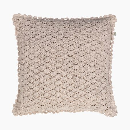 Coussin HUSOT coloris nude 45 x 45 cm