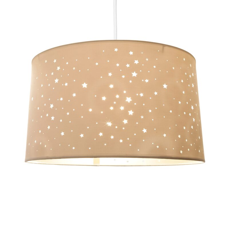 Pendant light STARS colour white 23 x 40 cm