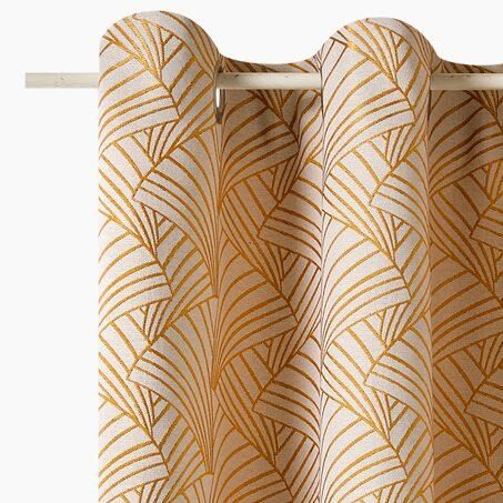 rideau wall street coloris beige 145 x 260 cm rideau 4murs. Black Bedroom Furniture Sets. Home Design Ideas