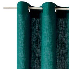 rideau lino coloris vert meraude 135 x 260 cm rideau 4murs. Black Bedroom Furniture Sets. Home Design Ideas