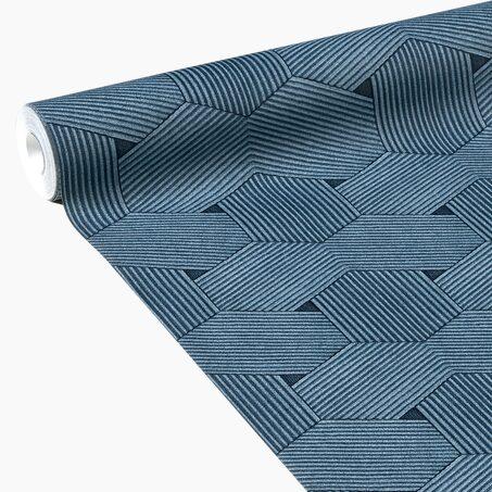 papier peint intiss harold coloris bleu marine papier peint welldeco. Black Bedroom Furniture Sets. Home Design Ideas