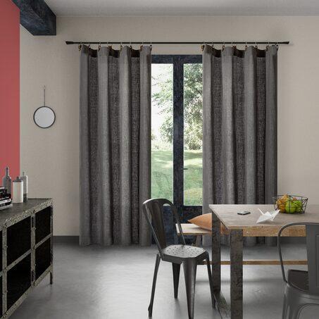rideau exalto coloris gris perle 135 x 240 cm gris perle rideau 4murs. Black Bedroom Furniture Sets. Home Design Ideas