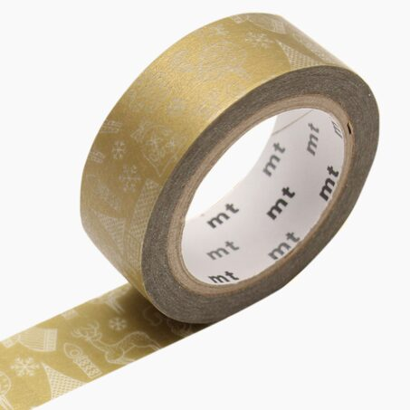 Masking tape GOLD CHRISTMAS coloris or