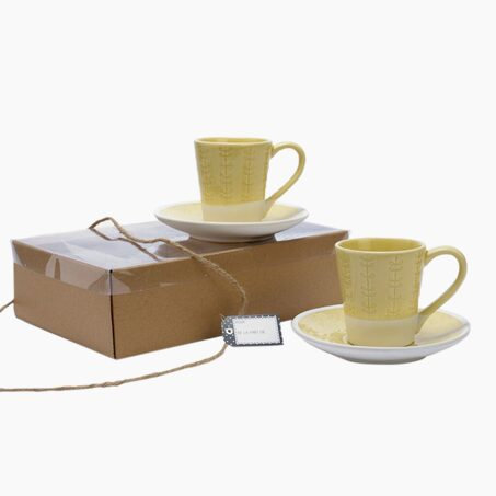 Cup ORLA x2 colour tender yellow