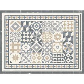 Tapis Rideaux Textiles Déco Murs - Plinthe carrelage et tapis carré 120 x 120