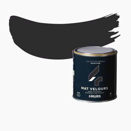 Finishing Paint ABSOLU Acrylic black Matte 0,5 L