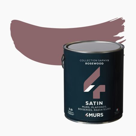 Peinture Multi-supports SAPHYR Alkyde rosewood Satiné 2,5 L