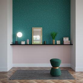 Intiss opal coloris vert meraude papier peint 4murs for Miroir 4 murs