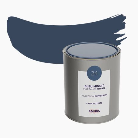 Peinture Multi-supports EXPRESSION Acrylique bleu minuit Satiné 2,5 L