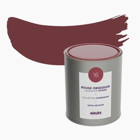 Peinture Multi-supports EXPRESSION Acrylique rouge obsession Satiné 2,5 L