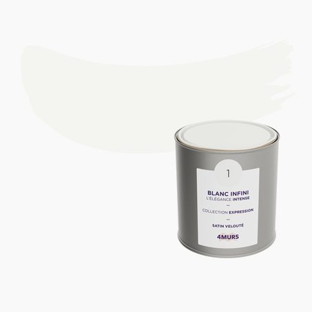 Finishing Paint EXPRESSION Acrylic infinity white Satin 0,5 L