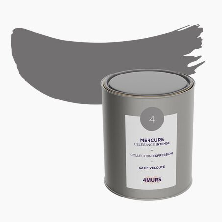 Peinture Multi-supports EXPRESSION Acrylique mercure Satiné 2,5 L