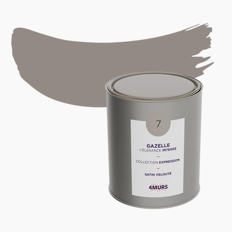 Peinture Multi-supports EXPRESSION Acrylique gazelle Satiné 2,5 L