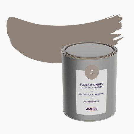 Peinture Multi-supports EXPRESSION Acrylique terre d'ombre Satiné 2,5 L