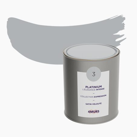 Peinture Multi-supports EXPRESSION Acrylique platinium Satiné 2,5 L
