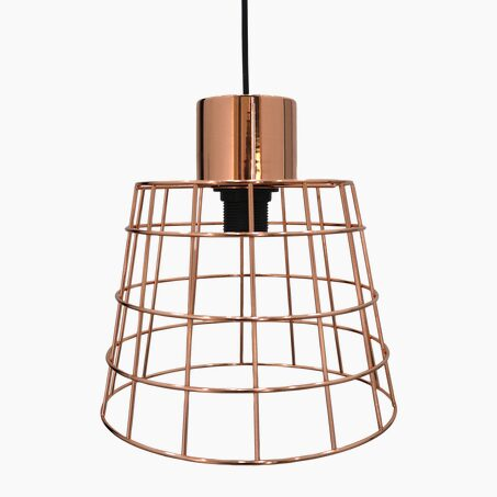 Pendant light MOANDA colour copper 20 x 25.6 cm