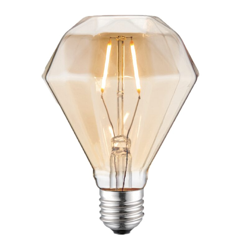 Ampoule DIAMOND LED E27 15W h 13,5 cm d 9,5 cm coloris jaune 13,5 x 9,5 cm