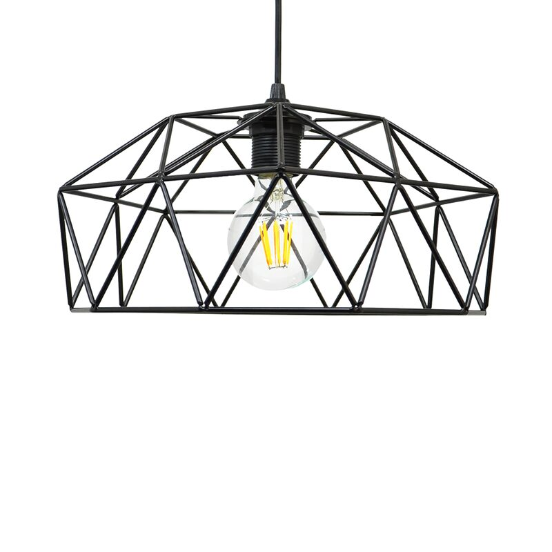 Suspension BLAST coloris noir 15 x 32 cm
