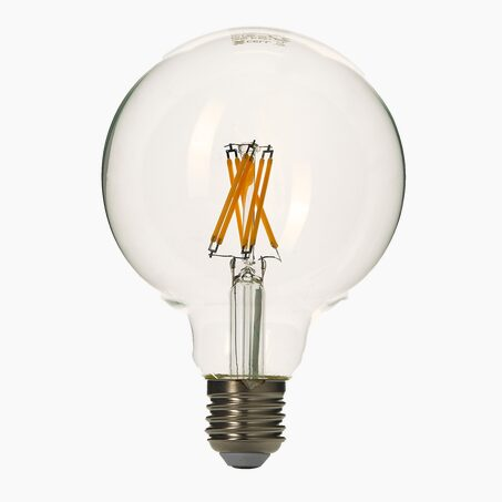 Light bulb LED GLOBE 60W E27 warm lighting colour yellow 8 x 5 cm