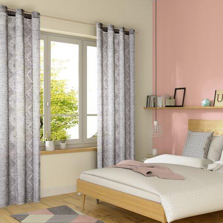 voilage wift coloris gris 140 x 240 cm rideau 4murs. Black Bedroom Furniture Sets. Home Design Ideas