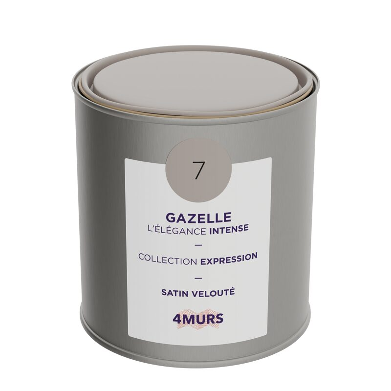 Peinture Finition EXPRESSION Acrylique gazelle Satiné 0,5 L