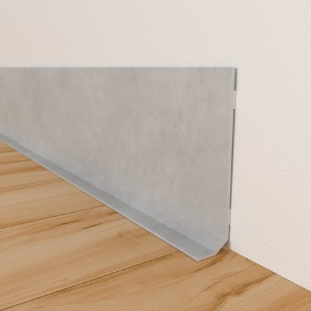 Decorative skirting board BÉTON CLAIR
