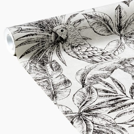 Papier peint intissé JUNGLE LEAF coloris lin