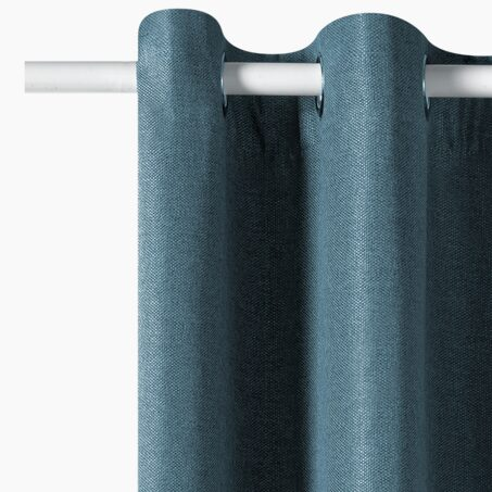 Blackout curtain HUGO colour metal blue 140 x 260 cm