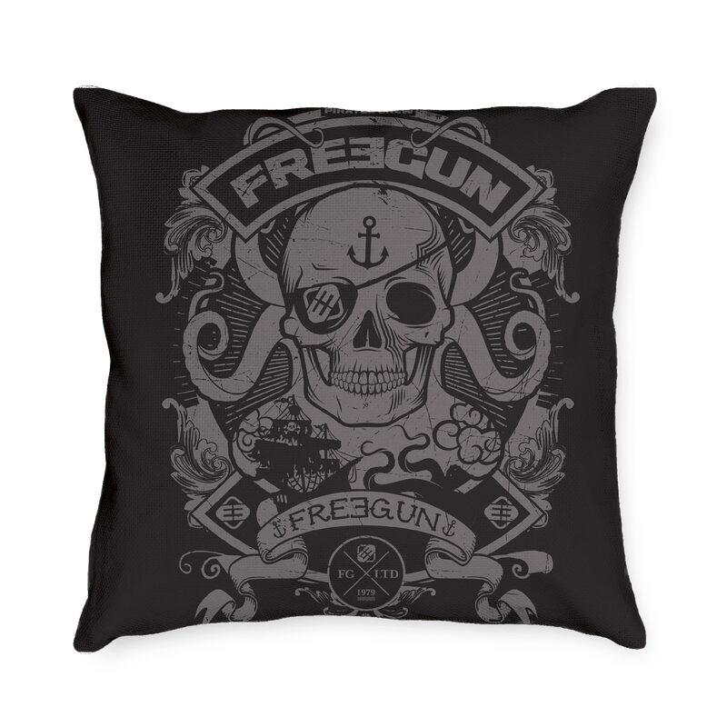 Coussin FREEGUN PIRATES coloris multicolore 45 x 45 cm